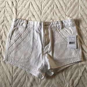 NWT Free People 100% white cotton shorts